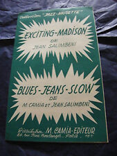 Partitur Spannende Madison Jean Salimbeni Blues Jeans Slow Camia 1964