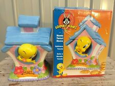 "Looney Tunes Tweety Bird In House 10""  Cookie Jar by Gibson + original box 🍪🍪"