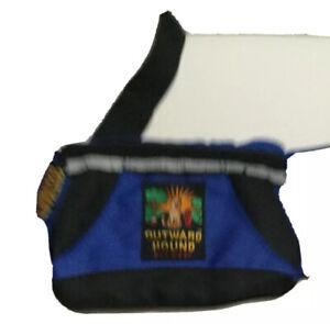 Outward Hound Pet Gear Hiking Travel Fanny Pack Blue Padded Water Bottle Holder
