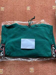 Supreme Text Rib Hooded Sweatshirt Dark Green- XL XLarge Extra Free Shipping ✅