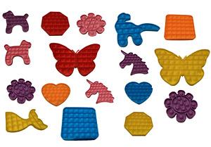 LARGE Push Pop Bubble Kids Toy It Special Needs Silent Sensory Fidget Autism