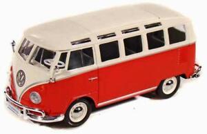 "Maisto Volkswagen VW 1960s Van Samba bus 1:25 scale 7""  diecast CAR model"