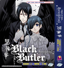 DVD Anime Black Butler Kuroshitsuji Sea 1-3 9 OVA Movie Eng Dub Region All