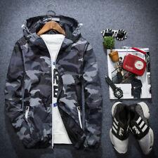 Men's Winter Slim Camo Hoodie Warm Hooded Sweatshirt Coat Jacket Outwear Sweater