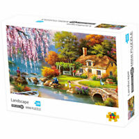 1000 PCS Paper Difficult Jigsaw Mini Puzzles Family Assembling Adult Kids Puzzle