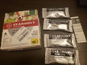 BAYER K9 ADVANTIX II SMALL DOG 4-10lb FLEA TREATMENT CONTROL 4 MONTHLY DOSES