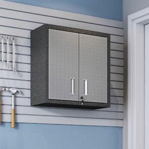 Manhattan Comfort 5GMC 30 Inch Fortress Steel Garage Tool Storage Cabinet, Grey