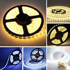 12V 1/2/3/5M 3528 LED Strip Lights Stick-on Roll Waterproof Flexible Party Decor