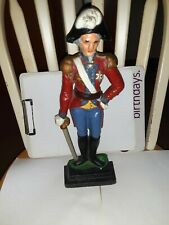 antique cast iron soldier door stop 14inches tall very heavy rare