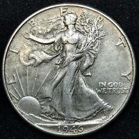 1946 P - AU/ BU.  Walking Liberty Silver Half Dollar US Coin.# 1.5