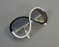 Brille Silhouette Oversized Lesebrille Sonnenbrille Schwarz Weiss Vintage 70er