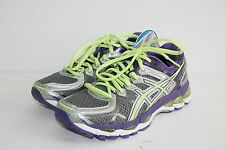 $160 ASICS GEL KAYANO 21 5 US / 35.5 EU / 22.5 CM Charcoal Sharp Green Purple