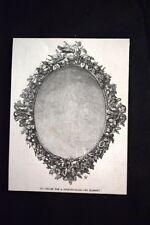 Cornice per uno specchio, di Hanson Incisione del 1851