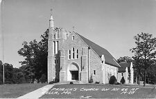 c1940 St Patrick's Church on ROUTE 66, Rolla, Missouri Real Photo Postcard/RPPC