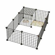 Dog Animal Playpen Portable Large Metal Wire Yard Fence 8 Panel For Rabbit,Small