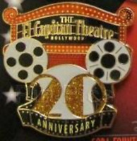 Disney Pin 85796 DSF El Capitan Theatre 20th Anniversary Hollywood Marquee LE