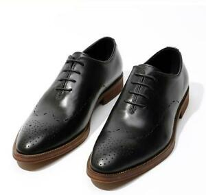 Mens Square Toe Business Wedding Carved Banquet Oxfords Party Real Leather Shoes