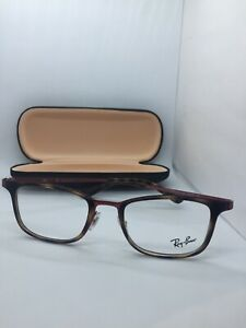 NEW AUTHENTIC RAY BAN RB 6373M 2922 HAVANA/RED FRAMES 52-20-145 Fast Free Ship