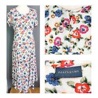Debenhams vintage dress floral teadress landgirl cottagecore 90s y2k UK 12