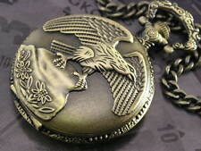 American Eagle Outstretching Wing Pocket Men Watch Bronzed WTP2002B