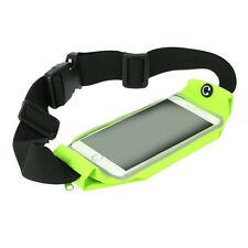 Waterproof Running Gym Jogging Waist Belt Green For Motorola Nexus 6/ LG Nexus 5