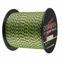 Dorisea Extreme Braid 100m~2000m Pe Black&Green Spot Line Braided Fishing Line