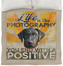 NEW Black Labrador Retriever Dog Puppy Life Is Like Photography TWIN Duvet Cover