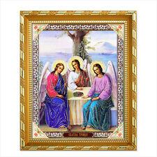 Ikone Heilige Dreifaltigkeit Holz 21x18 Святая Троица  икона
