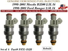 4 Fuel Injectors OEM DENSO for 98-01 Ford Ranger & Mazda B2500 2.5L I4 #F87E-D2B