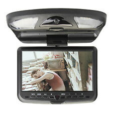 9'' LCD FM Roof Mounted Overhead monitor Flip Down DVD Player free warranty