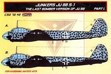 KORA Models 1/72 JUNKERS Ju-88S-1 Last Bomber Version Resin Conversion Set