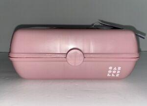 "Caboodles 9""x5.5""x3.8"" Makeup Accessory Organizer Storage Case Glitter Pink"