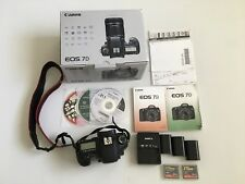 Canon EOS 7D 18.0MP Digital SLR Camera - (Body Only) w/ extra Batts & CF Cards
