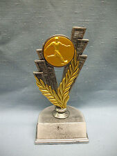 Male Soccer Kicker trophy pewter color finish gold metal insert