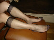 Lot 12 Chaussettes mi-bas nylon socks ultra sheer noir Ref US05 T-39/46 gay