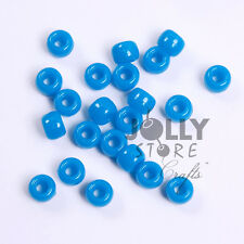 500pc Turquoise Blue 9x6mm Pony Beads for school crafts hair decor kandi jewelry