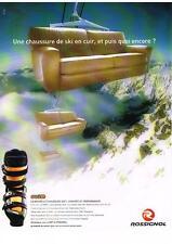 PUBLICITE ADVERTISING  2001    ROSSIGNOL  CHAUSSURES DE SKI SOFT