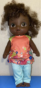 Hasbro Baby Alive  Can Dance Baby Doll Curly Hair African American~ works well