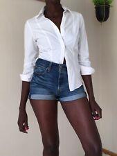 Brook Taverner ladies shirt size 6 (34cms) white easy iron cotton work long
