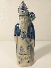 1998 SLP Stoneware Santa Claus St. Nick Cobalt Blue Salt Glaze 6 Inch