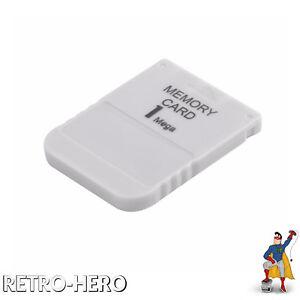 Neu / NEW Memory Card 1 MB für Playstation PSX PSOne PS1 1MB Speicherkarte