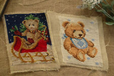 Completed Needlepoint Canvas Cute Lovely Teddy Bear Baby