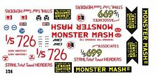 Bill Jenkins Monster Mash II Chevy '55 1/24th Scale Waterslide Decals