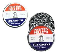 2 packs x 500 pieces .177 caliber Pellets Pointed 4.5mm airguns air rifle huntin