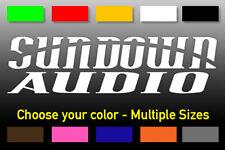 Sundown Audio Logo Sticker Vinyl Decal Select Size