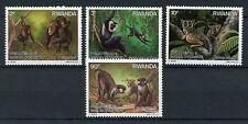 Rwanda 1988 MNH Primates of Nyungwe Forest 4v Set Galago Colobus Monkeys Stamps