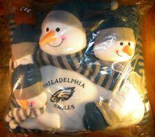 """*NEW* Philadelphia Eagles Snowman """"Family"""" Pillow"""