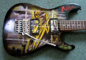 Partscaster Superstrat Iron Maiden Killers Decal BC Rich Body Floyd Rose