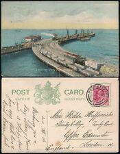 SOUTH AFRICA 1906 RAILWAY + DOCKS PORT ELIZABETH CAPE of GOOD HOPE PPC