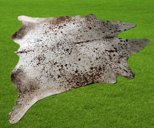 "New Cowhide Rugs Area Cow Skin Leather 32.11 sq.feet (68""x68"") Cow hide U-8415"